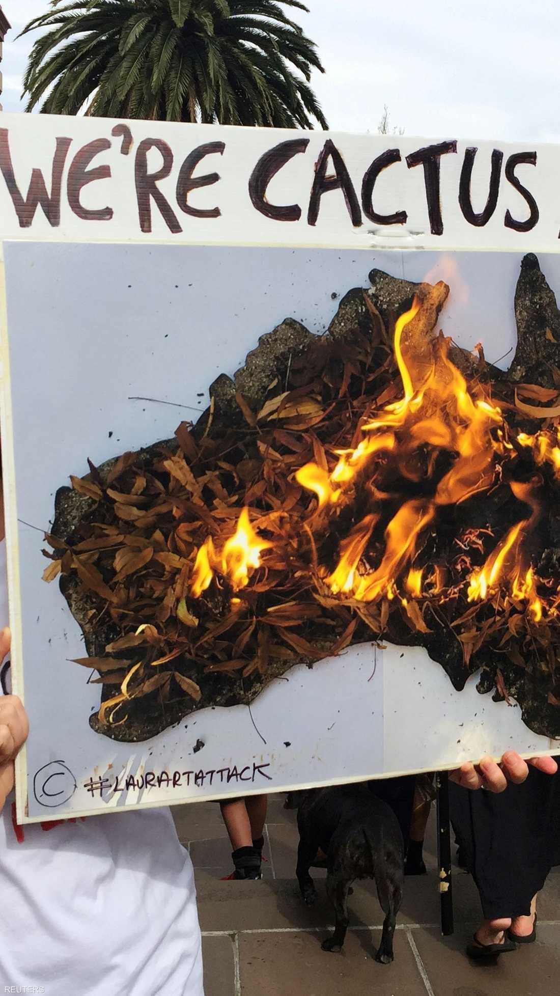 نُظمت الاحتجاجات في 110 بلدات ومدينة عبر أستراليا