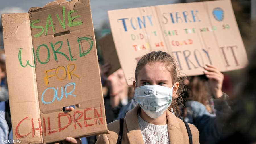 """أُطلق على المظاهرات """"الإضراب العالمي من أجل المناخ"""""""