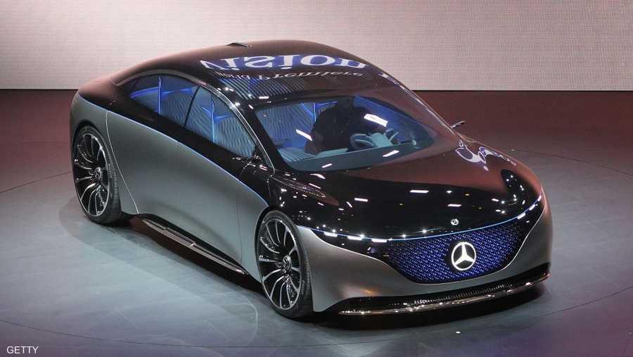"""""""مرسيدس"""" قدمت نموذج سيارتها المستقبلية """"فيجن EQS""""."""