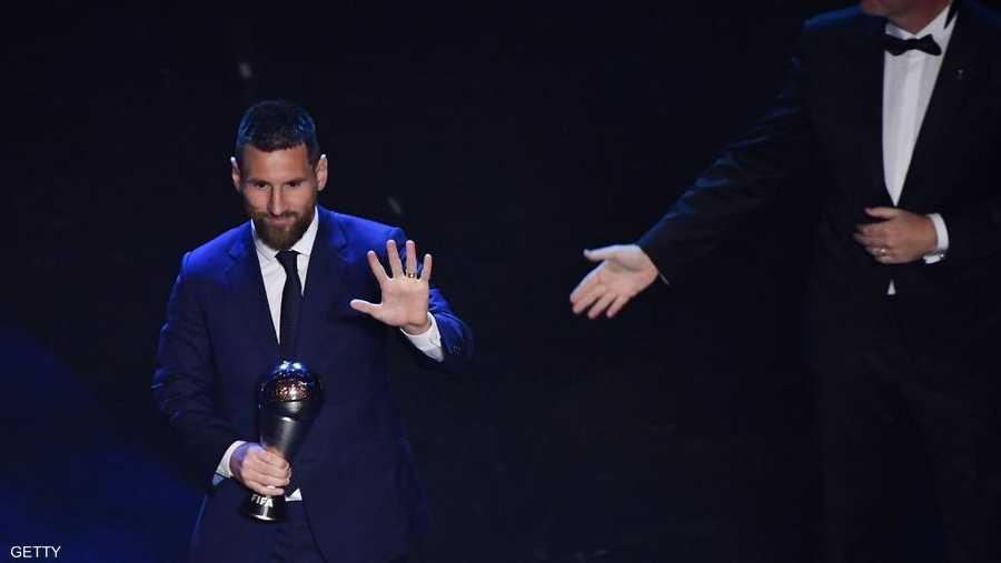ميسي يستعيد قبضته على THE PEST في حفل الفيفا الاسنوي لأفضل لاعب بالعالم