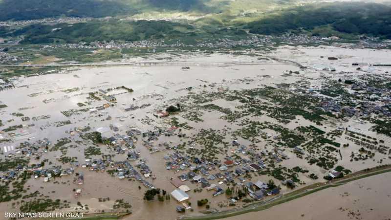 إعصار هاغيبيس يشل طوكيو ويتسبب بفيضانات