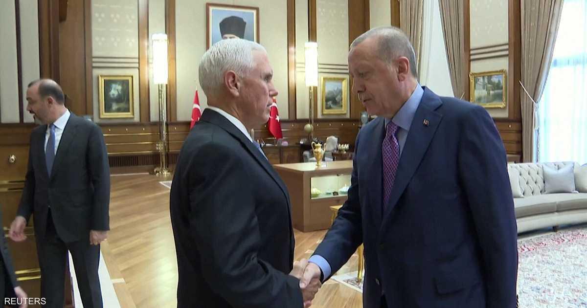 بالفيديو.. كيف استقبل أردوغان نائب ترامب؟