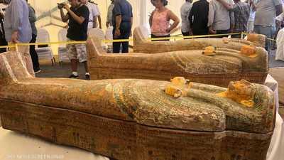 """مصر.. كشف أثري """"ضخم"""" لتوابيت فرعونية"""