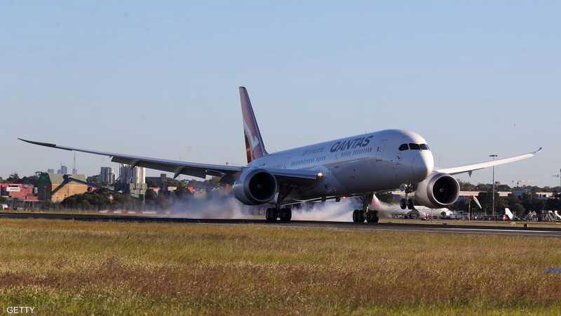 لحظة هبوط الطائرة الأسترالية في مدينة سيدني