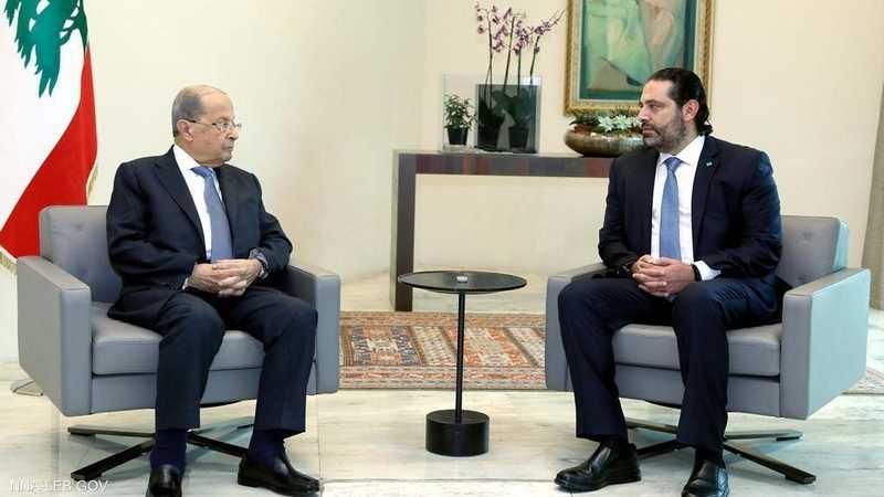 الحريري وعون في القصر الرئاسي قبيل اجتماع الحكومة
