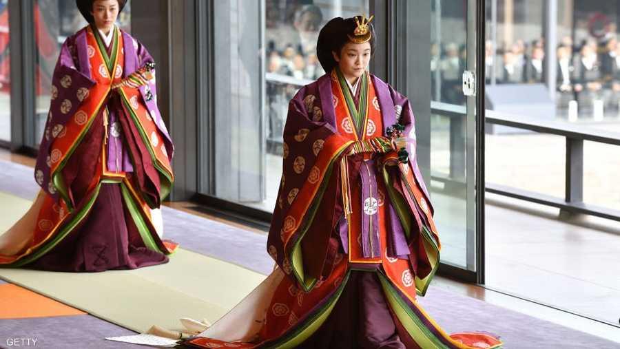 وحضر أفراد العائلة الإمبراطورية، ومنهم الأميرة ماكو، مراسم التنصيب.