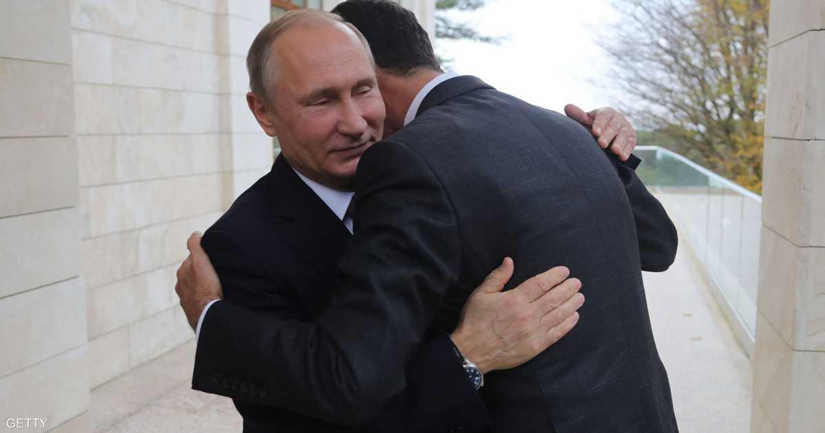 بوتن يبلغ بشار الأسد بتفاصيل الاتفاق مع تركيا   أخبار سكاي نيوز عربية