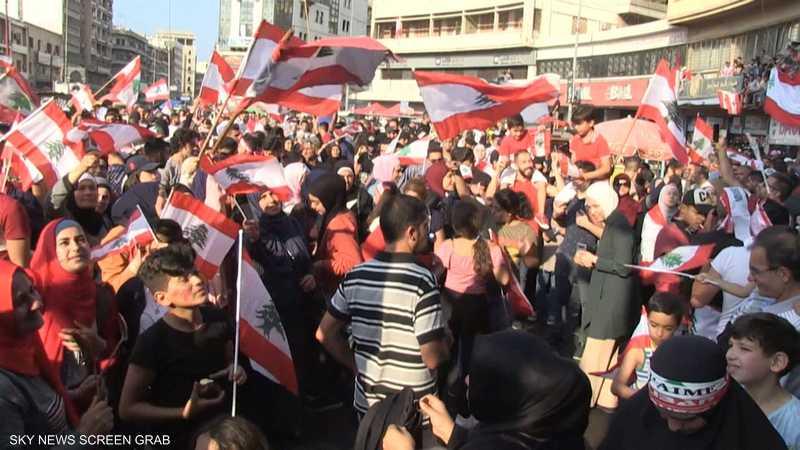 تظاهرات في بيروت ومناطق لبنانية لليوم السابع على التوالي