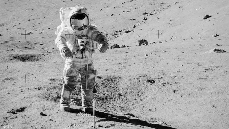 تم جمع العينات خلال رحلة أبولو 17