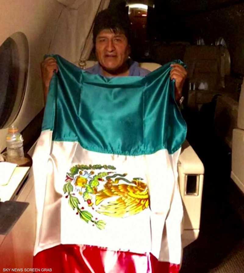انتشار لصور رئيس بوليفيا المستقيل عقب منحه اللجوء للمكسيك