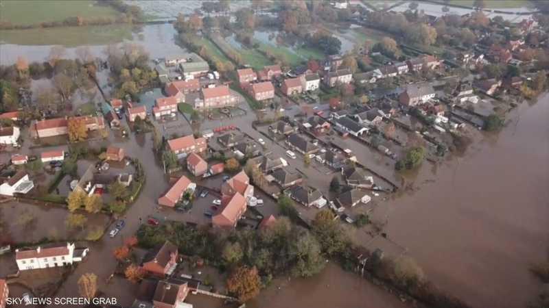 الأمطار تغرق بلدات في مقاطعة بريطانية