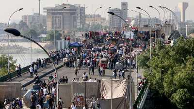 احتجاجات العراق.. إضراب عام يشل العاصمة والجنوب