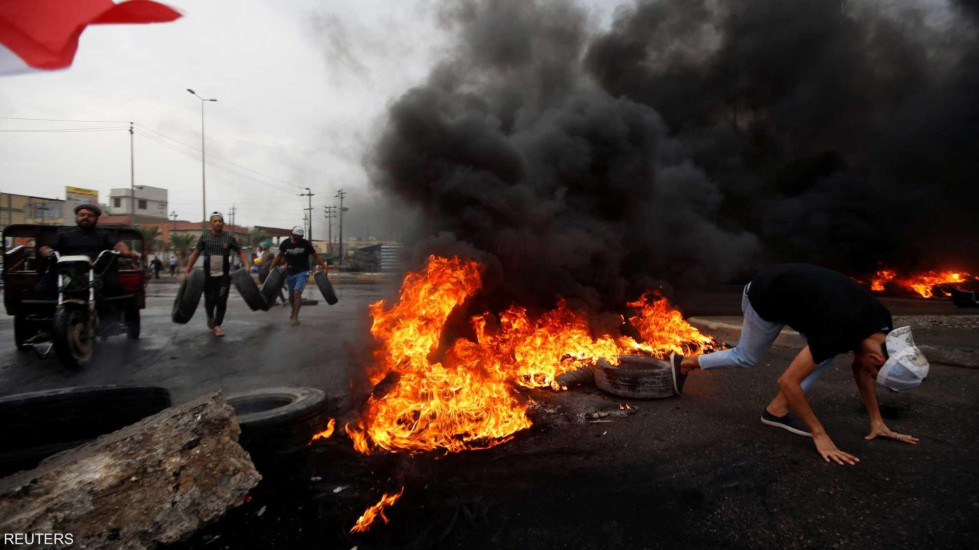 استمرار الاحتجاجات في العراق