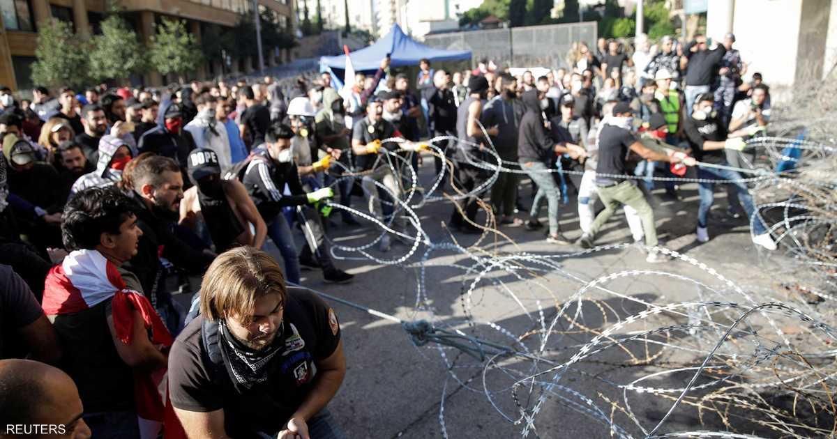 المتظاهرون ينجحون بتأجيل جلسة البرلمان اللبناني