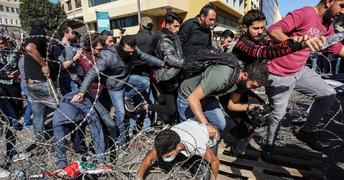 الأمن اللبناني يفرج عن متظاهرين اعتقلهم بعد اشتباكات