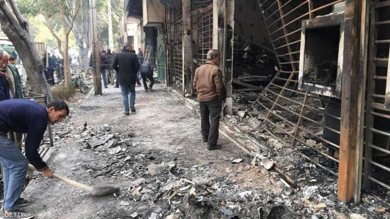 المظاهرات في إيران امتدت إلى أكثر من 40 مدينة ومنطقة.