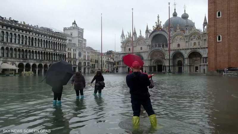 البندقية تغرق مجددا تحت الأمطار