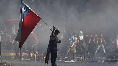 """تشيلي .. 40 يوما و""""الغضب"""" لا يتوقف"""