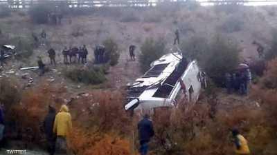 المغرب.. مقتل 17 بحادث انقلاب حافلة