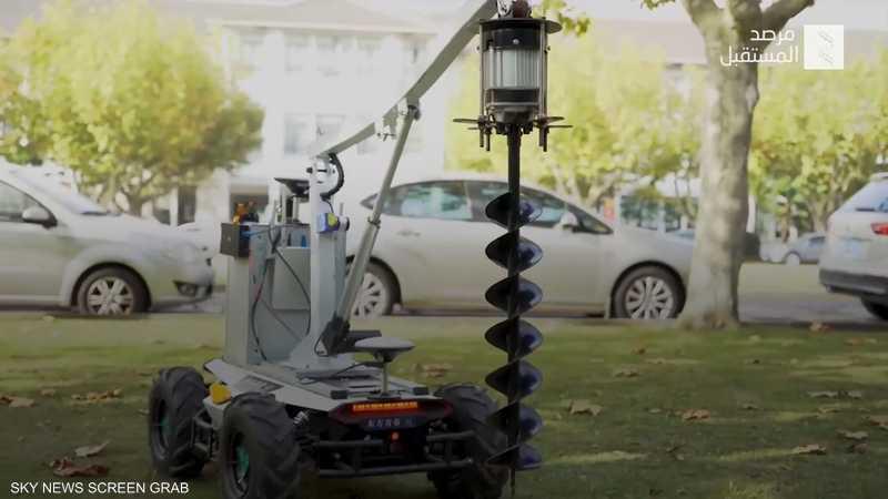 روبوت لغرس الأشجار