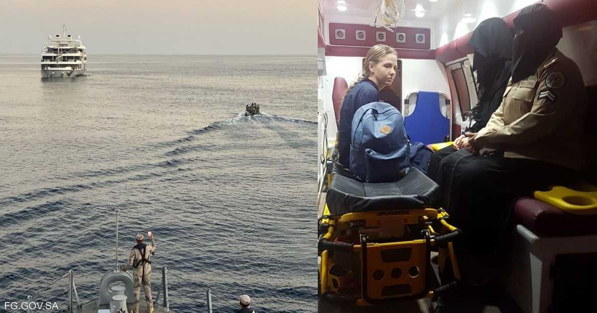 حرس الحدود السعودي يخلي بحارة أوكرانية في مياه البحر الأحمر