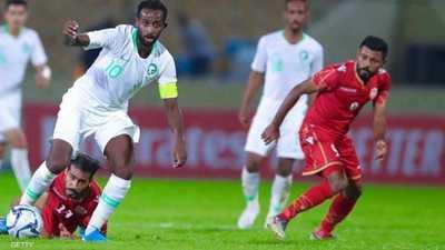 منتخبا السعودية والبحرين في مباراة سابقة