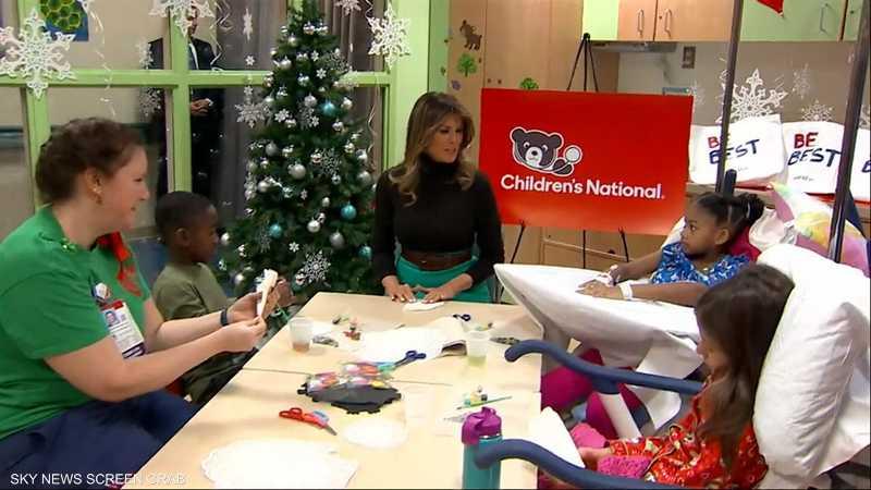 ميلانيا ترامب تقرأ القصص للأطفال المرضى