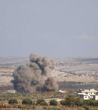 غارات روسية سورية تستهدف 5 قرى في إدلب