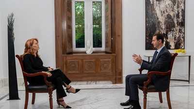 """بعد المقابلة """"الممنوعة"""".. تويتر يغلق حساب الرئاسة السورية"""