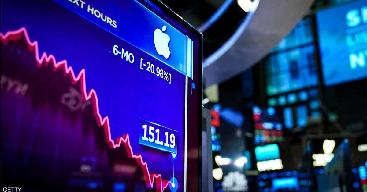أبلتضغط على وول ستريت وتهبط بالأسهم الأميركية