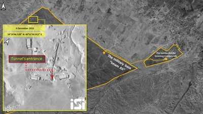 صور فضائية تكشف نفق الصواريخ الإيراني.. في سوريا