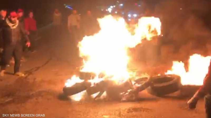 جانب من المظاهرات الليلية في بيروت