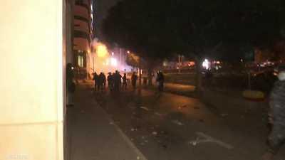 تجدد التوتر في بيروت بعد مواجهات مع قوات مكافحة الشغب