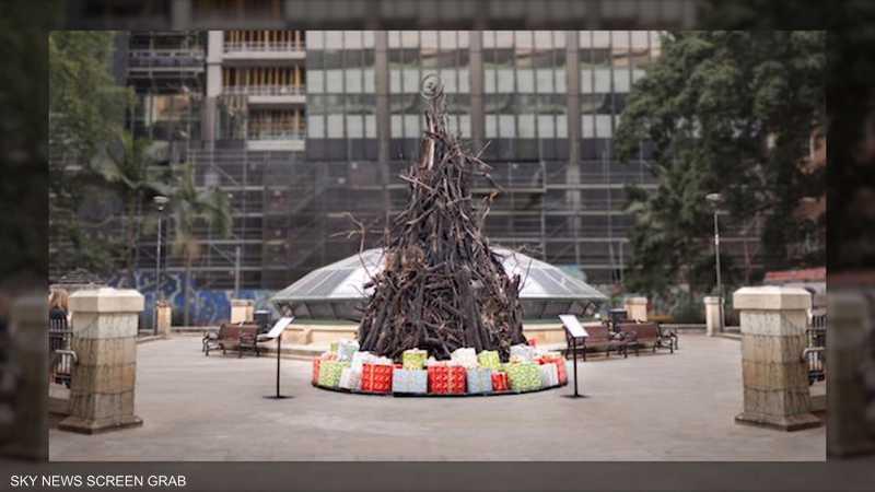 """""""شجرة الكارثة"""" تؤثث أعياد الميلاد في أستراليا"""
