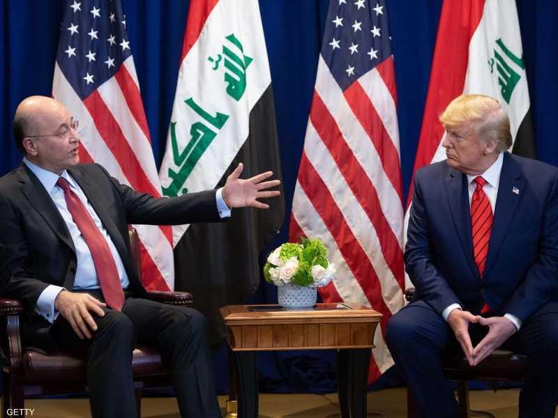 دونالد ترامب وبرهم صالح في لقاء سابق