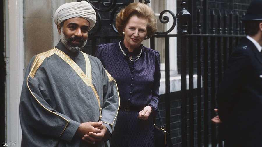 لقاء جمعه برئيس وزراء بريطانيا الراحلة مارغريت تاتشر