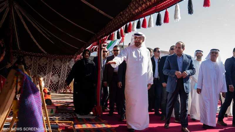 محمد بن زايد والسيسي يشهدان فعاليات مهرجان شرم الشيخ التراثي