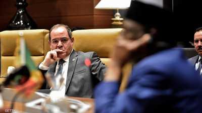 وزير الخارجية الجزائري صبري بوقادوم خلال الاجتماع