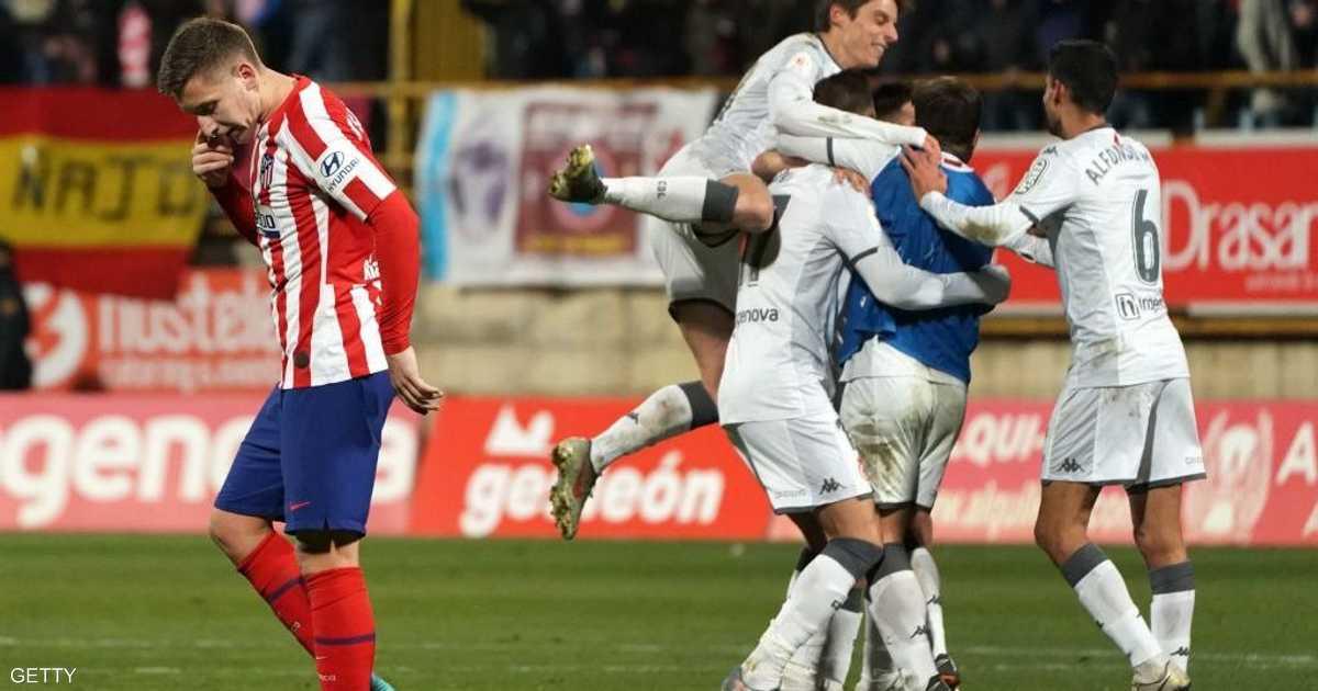 فريق مغمور يطيح أتليتيكو مدريد خارج كأس إسبانيا