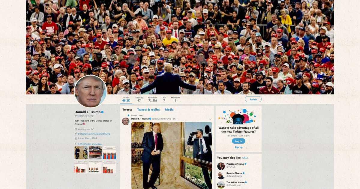 ترامب يحطم رقمه القياسي الرئاسي على تويتر   أخبار سكاي نيوز عربية