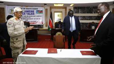 الاتفاق وقع اليوم في جنوب السودان المجاورة.
