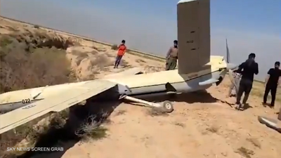 """إيران.. سقوط """"غامض"""" لطائرة عسكرية مسيّرة"""