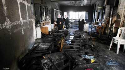 مستوطنون يحرقون مدرسة فلسطينية في الضفة الغربية