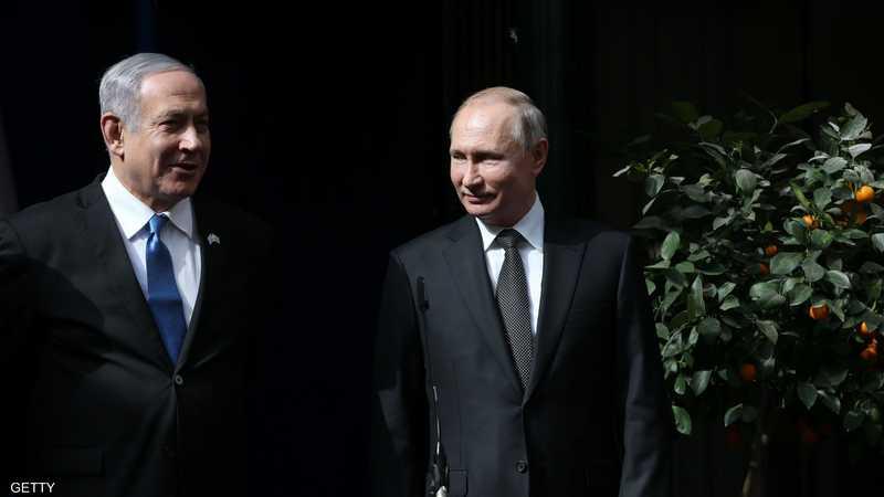 نتانياهو وبوتن في لقاء سابق