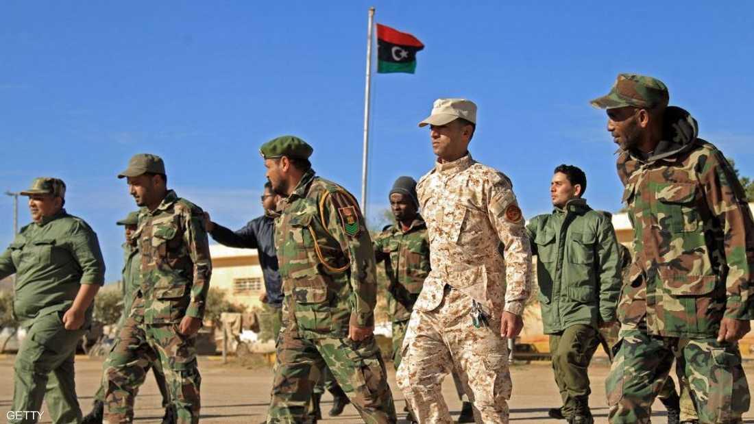 أفراد من الجيش الوطني الليبي بقيادة المشير خليفة حفتر.
