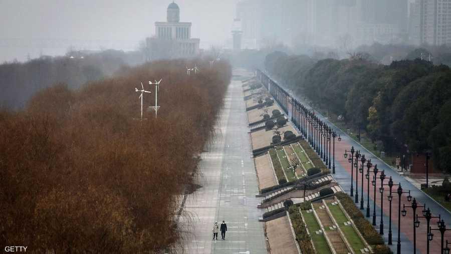 شوارع ووهان خالية من سكانها الذي يصل عددهم لـ11 مليون نسمة