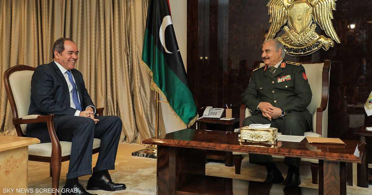 وزير الخارجية الجزائري يبحث مع حفتر الأزمة الليبية   أخبار سكاي نيوز عربية