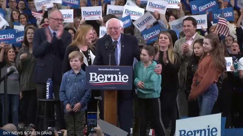 ساندرز يفوز بالانتخابات التمهيدية للحزب الديمقراطي بنيوهامشي