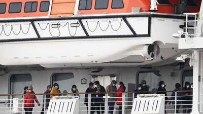 """67 إصابة جديدة بكورونا على متن """"السفينة الموبوءة"""""""