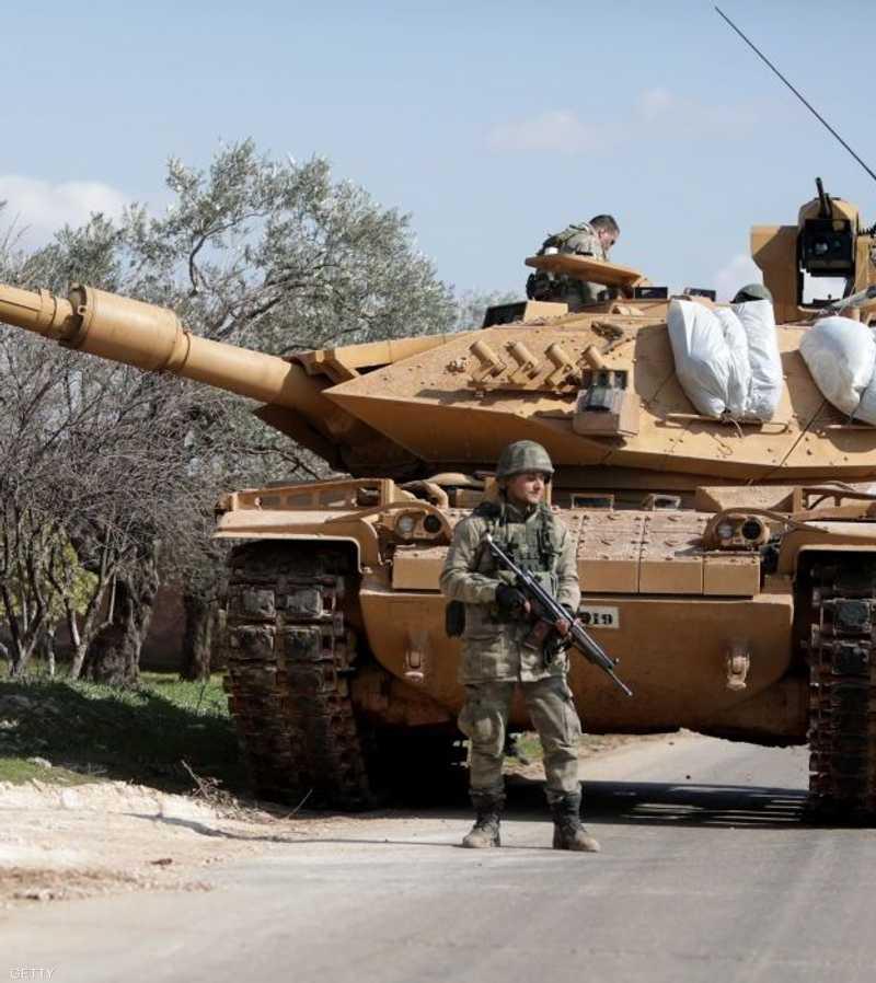 آلية تركية داخل الأراضي السورية